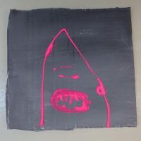 Pinky   25,3 x 24,3 c m   akryyli pahville