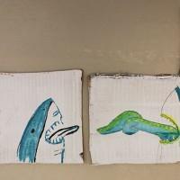 Kevätkielari   46 x 16/27,5 cm   akryyli pahville