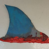 Fin (ilman lautasta)   17,5 x 13,5 cm   akryyli pahville