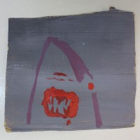 Marjasuu   30,5 x 25 cm   akryyli pahville